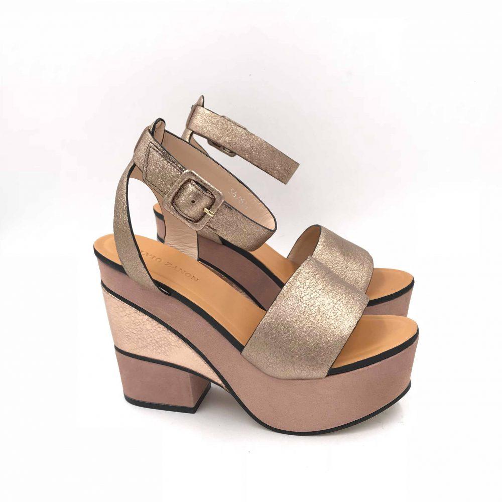 De camoscio Sandalias Zapatos Zanon Crackele Vestir Argento Elvio H3502x eD2WYE9HI