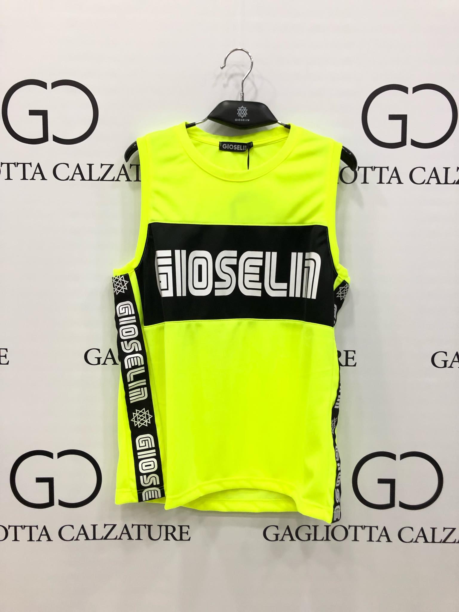 GIOSELIN GSL01 CANOTTA LUNGA FLUO GIALLO