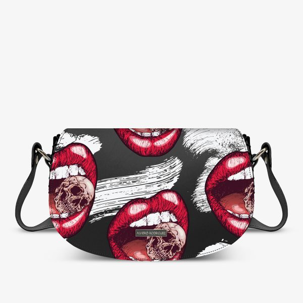 ALVIERO RODRIGUEZ AIDA BAG DEATH LIPS