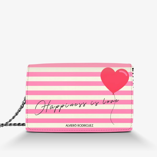 ALVIERO RODRIGUEZ BORSA BIANCA HAPPINESS IS LOVE