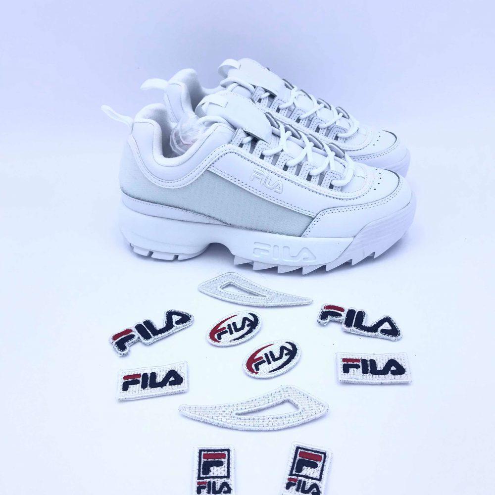 FILA DISRUPTOR II PATCHES WMN 5FM00538.100 WHITE