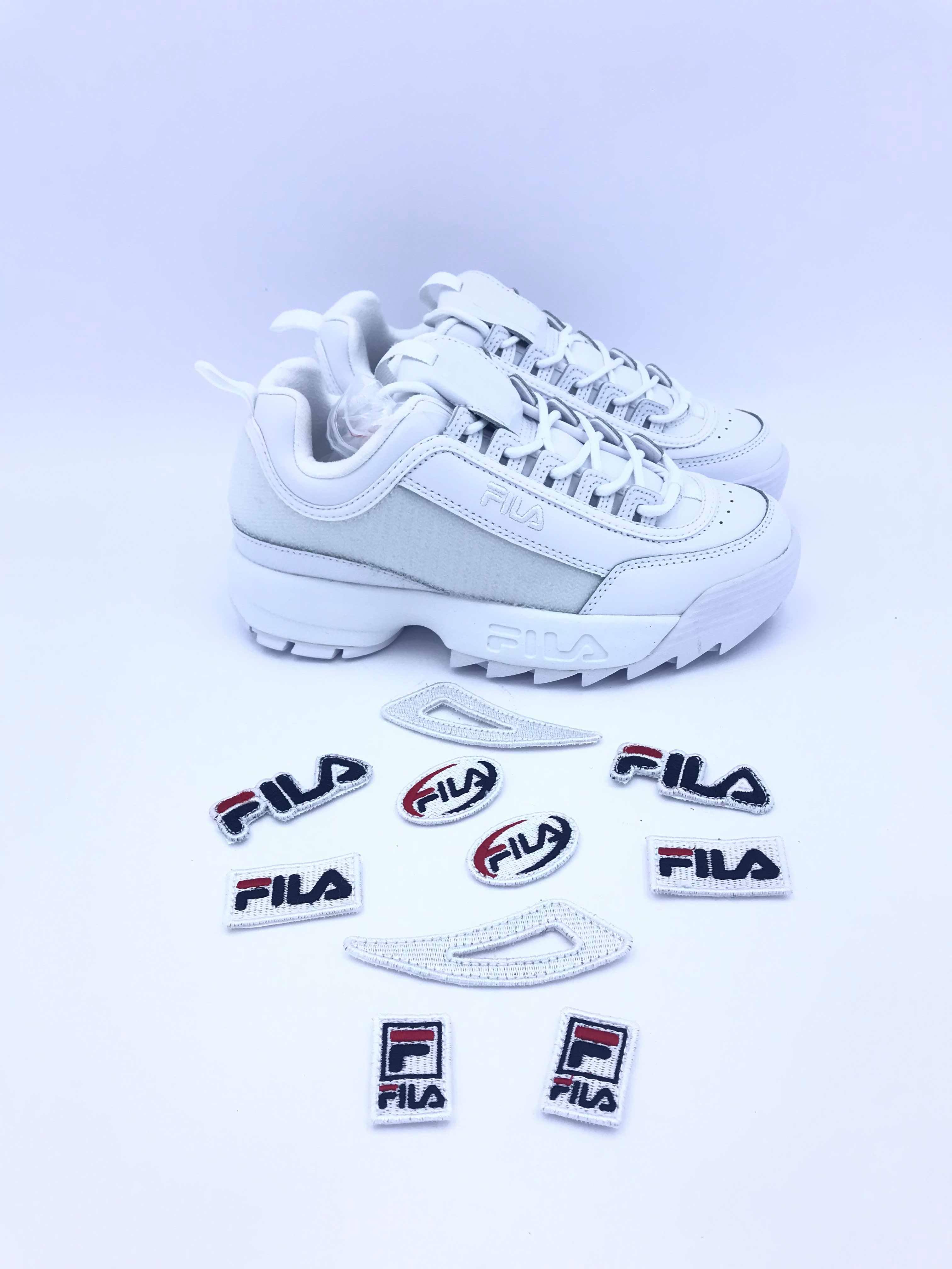 1835f6bb5 FILA DISRUPTOR II PATCHES WMN 5FM00538.100 WHITE | Gagliotta Calzature