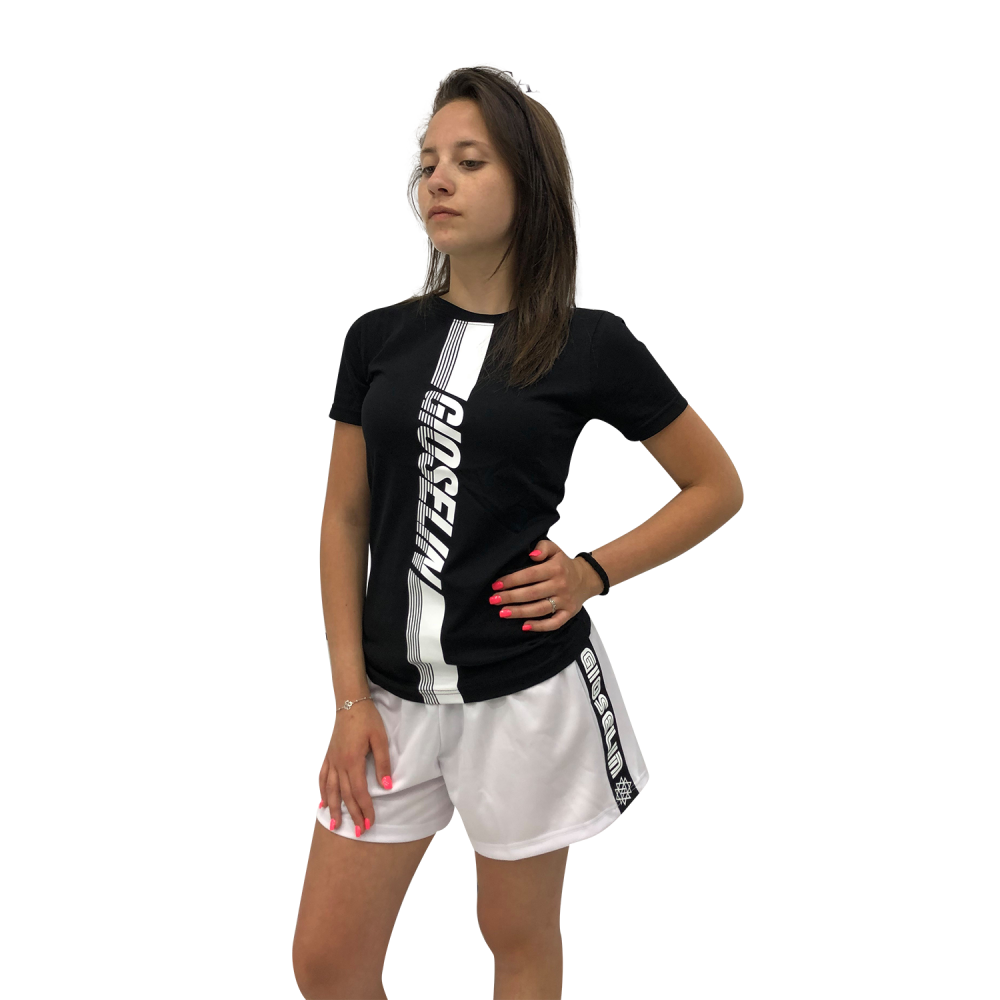 GIOSELIN T-SHIRT TRAINING NERO/BIANCO